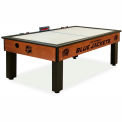 Columbus Blue Jackets Logo Air Hockey Table Cinnamon Finish