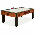 Tampa Bay Lightning Logo Air Hockey Table Cinnamon Finish
