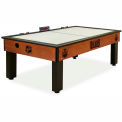 Edmonton Oilers Logo Air Hockey Table Cinnamon Finish