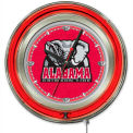 "University of Alabama Elephant Double Neon Ring 15"" Dia. Logo Clock"