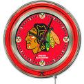 "Chicago Blackhawks® Double Neon Ring 15"" Dia. Logo Clock"