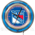 "New York Rangers® Double Neon Ring 15"" Dia. Logo Clock"