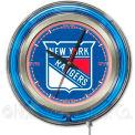 "New York Rangers® Double Neon Ring 15"" Dia. Logo Clock"