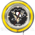"Pittsburgh Penguins® Double Neon Ring 15"" Dia. Logo Clock"