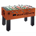 Columbus Blue Jackets Logo Foosball Table Cinnamon Finish