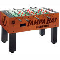Tampa Bay Lightning Logo Foosball Table Cinnamon Finish
