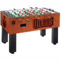 Edmonton Oilers Logo Foosball Table Cinnamon Finish