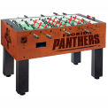 Florida Panthers Logo Foosball Table Cinnamon Finish