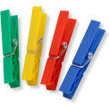 Classic Spring Multicolored Clothespins, Yellow, Green, Red And Blue, Plastic, 200 Pack