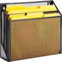 Honey-Can-Do 3-Compartment Steel Vertical File Desk Sorter - Black