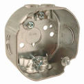 """Hubbell 112 Octagon Box 3-1/2"""", 1-1/2"""" Deep, 1/2"""" Side Knockouts, Nmsc Clamps - Pkg Qty 25"""