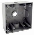 """Hubbell 5333-0 Two Gang Weatherproof Box 3-1/22"""" Outlets Gray - Pkg Qty 12"""