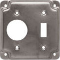 "Hubbell 805C 4"" Square Exposed Work Cover, one Toggle switch & one 1.406 diam. hole"
