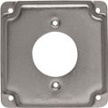"Hubbell 811C 4"" Square Exposed Work Cover, 30A Twist-Lock 1.719"" diameter"