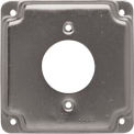 "Hubbell 812C 4"" Square Exposed Work Cover, 20A Receptacle 1.594"" diameter"