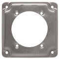 "Hubbell 813C Square Exposed Work Cover 4"", 30A-60A Receptacle 2.625"" diameter"