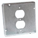 "Hubbell 972 4-11/16"" Square Exposed Work Cover, 1 Duplex receptacle"