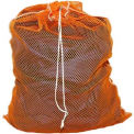 Mesh Bag w/ Drawstring Closure, Orange, 18X24, Heavy Weight