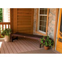 highwood® 4' Lehigh Backless Outdoor Bench, Eco Friendly Synthetic Wood In Weathered Acorn