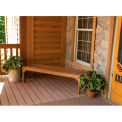 highwood® 4' Lehigh Backless Bench, Eco-Friendly Synthetic Wood In Toffee