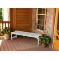 highwood® 4' Lehigh Backless Bench, Eco-Friendly Synthetic Wood In White