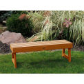 highwood® 5' Weatherly Backless Bench, Eco-Friendly Synthetic Wood In Toffee