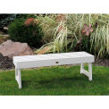 highwood® 4' Weatherly Backless Bench, Eco-Friendly Synthetic Wood In White