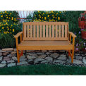 highwood® 4' Lehigh Outdoor Bench, Eco Friendly Synthetic Wood In Toffee