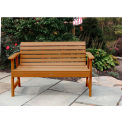 highwood® 4' Weatherly Outdoor Bench, Eco Friendly Synthetic Wood In Toffee