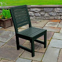 Highwood® Synthetic Wood Weatherly Dining Chair With No Arms, Charleston Green