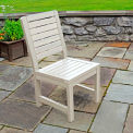 Highwood® Synthetic Wood Weatherly Dining Chair With No Arms, Whitewash