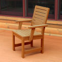 Highwood® Synthetic Wood Weatherly Dining Chair With Arms, Toffee