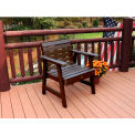 highwood® Weatherly Outdoor Garden Chair, Eco Friendly Synthetic Wood In Weathered Acorn Color