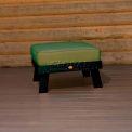 highwood® Pocono Deep Seating Patio Ottoman - Charleston Green/Palm (Sold in Pk. Qty 2) - Pkg Qty 2