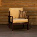 highwood® Pocono Deep Seating Patio Armchair - Weathered Acorn/Bamboo (Sold in Pk. Qty 2) - Pkg Qty 2