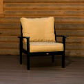 highwood® Pocono Deep Seating Patio Armchair - Charleston Green/Bamboo (Sold in Pk. Qty 2) - Pkg Qty 2
