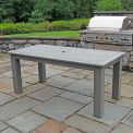 Highwood® Synthetic Wood Dining Table, 36 X 72, Coastal Teak