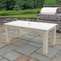 Highwood® Synthetic Wood Dining Table, 36 X 72, Whitewash