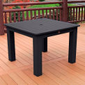 Highwood® Synthetic Wood Dining Table, 42 X 42, Black