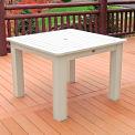 Highwood® Synthetic Wood Dining Table, 42 X 42, Whitewash