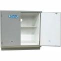 """HEMCO® Acid Base Cabinet, 30""""W x 22""""D x 35-1/4""""H, 2 Doors, Silver Beige"""