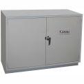 "HEMCO® Solvent/Flammable Cabinet, 36""W x 22""D x 35-1/4""H, 2 Doors, Silver Beige"