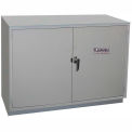"HEMCO® Solvent/Flammable Cabinet, 48""W x 22""D x 35-1/4""H, 2 Doors, Silver Beige"