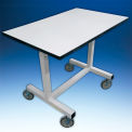"""HEMCO® Mobile Adjustable Height Table, 35""""W x 24""""D x 30"""" to 36""""H"""