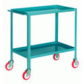 Tall Steel Shelf Truck 20x36 Poly-Tech Wheels 500 lbs
