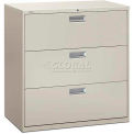 """HON® - Brigade®  600 Series 3 Drawer Lateral File 42""""W Light Gray"""