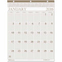 House of Doolittle Large Print Monthly Wall Calendar in Punched Leatherette Binding, 20 x 26, 2016