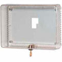 Large Universal Thermostat Guard W/ Clear Cover Base Opaque Wallplate