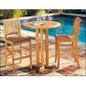 Hi-Teak Outdoor R Bar Chair, Unfinished Teak Wood