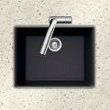 Houzer G-100U MIDNITE Granite Undermount Single Bowl Kitchen Sink, Black